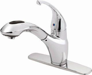 Homewerks Worldwide 103742 Chrome Single Handle Pull Out Kitchen Faucet   Quantity 1   Touch On Kitchen Sink Faucets