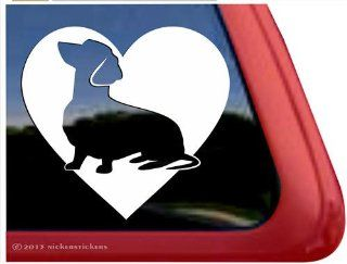 Love Dachshund Vinyl Window Decal Wiener Dog Sticker Automotive