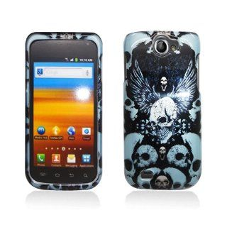 Black Blue Skull Wings Hard Cover Case for Samsung Galaxy Exhibit 4G SGH T679 Cell Phones & Accessories