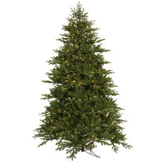 "Vickerman 18924   7.5' x 49"" Slim Jersey Frasier Fir 700 Clear Italian LED Lights Christmas Tree (E102276LED)"