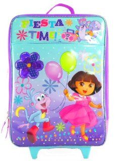 Dora the Explorer and Boots Nick Jr Girls Large Purple Rolling Wheeled Backpack Luggage Travel Case Pilot Toys & Games