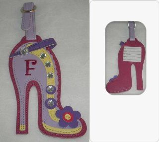 High Heel Shoe Decorative Initial Luggage Tag   F