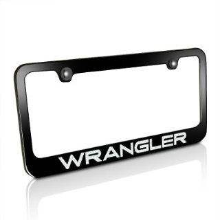 Jeep WRANGLER Black License Plate Frame Automotive