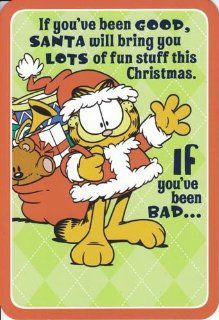 "Greeting Card Christmas Garfield ""If You've Been Good, Santa Will Bring You Lots of Fun This Christmas""  Paper Stationery"
