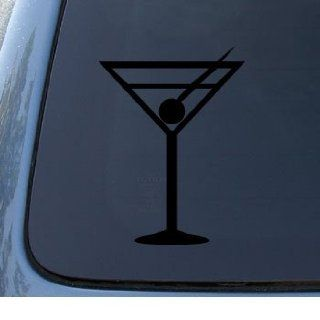 MARTINI GLASS   Drink   Car, Truck, Notebook, Vinyl Decal Sticker #1020  Vinyl Color Black Automotive