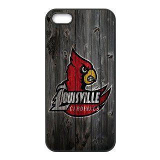 WY Supplier NCAA iphone 5 5S case Licensed Wood NCAA Protector Case cover for Apple Iphone 5 5S   Louisville Cardinals phone case Cell Phones & Accessories