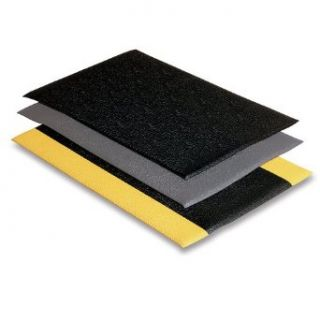 WEARWELL Soft Step Anti Fatigue Mats   Black/yellow Service Carts