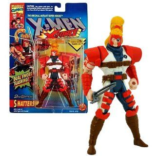 "Toy Biz Year 1994 Marvel Comics ""The Original Mutant Super Heroes"" X Men X Force Series 5 Inch Tall Action Figure   SHATTERSTAR with 2 Swords and Official Marvel Universe Trading Card Toys & Games"