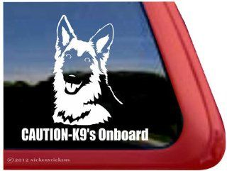 Caution   K9's Onboard ~ German Shepherd Dog Vinyl Window Decal Sticker Automotive