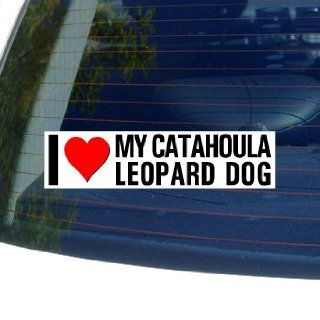 I Love Heart My CATAHOULA LEOPARD DOG   Dog Breed   Window Bumper Sticker Automotive