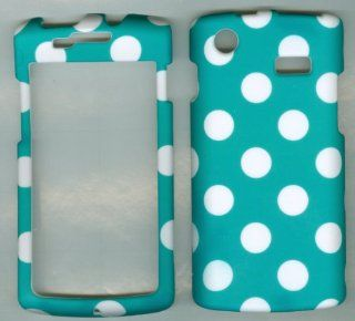 Samsung Captivate I897 Galaxy S Android At&t phone case cover hard rubberized snap on faceplate protector CAMOUFLAGE TURQUOISE POLKA DOT Cell Phones & Accessories