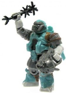 Halo Wars Mega Bloks LOOSE Mini Figure Covenant Teal Jump Pack Brute with Energy Rifle & Spike Grenade Toys & Games