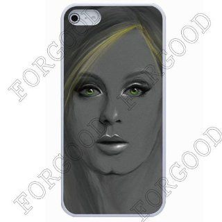 Custom ADELE Super Star Sculpture Case For iPhone 5 Brand ForGood Skin Rubber paint casePVC Cell Phones & Accessories