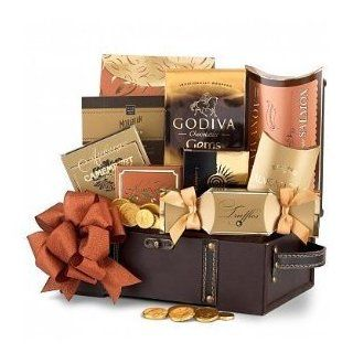 Gourmet Treasure Chest   Gift Basket for Men  OR  Valentines Day Gift Basket for Boyfriend, Husband For Him.