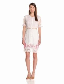 Candela Women's Alexis Lace Dress, White, Small Cotton