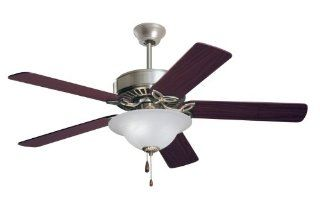 Emerson CF712BS Pro Series Indoor Ceiling Fan, 52 Inch Blade Span, Brushed Steel Finish   Brushed Nickel Ceiling Fan With Light