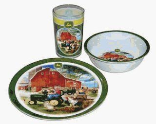 John Deere 08009 JD Childs 3 Piece Dinner Set Kitchen & Dining
