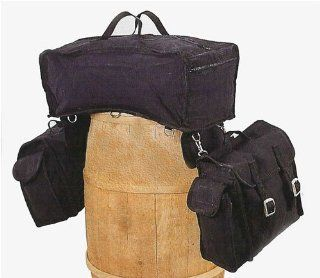 "Carry All Canvas ""3 in 1"" Trail Bag Black  Saddles  Sports & Outdoors"