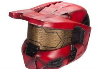 "R Custom Fiberglass Wire Mesh ""Master Chief"" Helmet   Red / Large Sports & Outdoors"