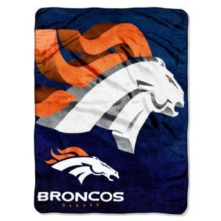 "NFL Denver Broncos 60 Inch by 80 Inch Micro Raschel Blanket, ""Bevel"" Design  Sports Fan Throw Blankets  Sports & Outdoors"