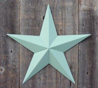 "53 Inch Heavy Duty Metal Barn Star Painted Solid Sage. The Solid Paint Coverage Gives the Star a Clean and Crisp Appearance. This Tin Barn Star Measures Approximately 53"" From Point to Point (Left to Right). The Barnstar Is Hand Crafted Out of 22 Gaug"