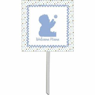 Tickled Blue Baby Shower Yard Sign Health & Personal Care