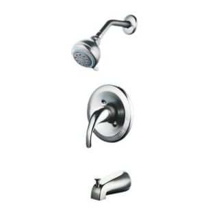 Elements of Design Concord Single Handle Tub and Shower Faucet