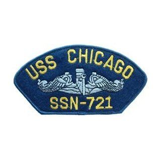 US Navy Military Large Iron On Patch   Navy Ship   USS Chicago SSN 721 Logo Clothing