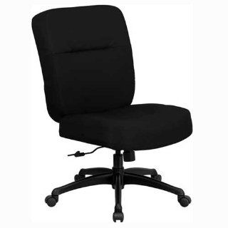 Flash Furniture WL 723ATG BK GG Hercules Series 400 Pound Big/Tall Black Fabric Office Chair with Arms/Extra Wide Seat   Desk Chairs