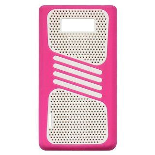 Bfun New Tough Mesh Hot Pink Silicone Cover Case For LG OPTIMUS L7 P705/P705G/700 Cell Phones & Accessories