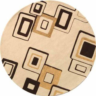 Safavieh SOH711A Handmade Soho Collection Beige New Zealand Wool Round Area Rug, 6 Feet