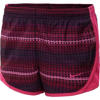 NIKE Girls Tempo Graphic Running Shorts   Size XS/Extra Small, Pink Glow/grape