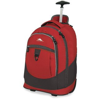 High Sierra Chaser Wheeled Daypack, Carmine Red/charcoal (040176421971)