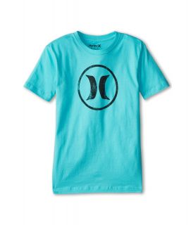 Hurley Kids Bloc Party Tee Boys Short Sleeve Pullover (Blue)