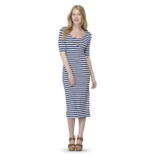 Mossimo Supply Co. Juniors Printed Midi Dress   Nightfall Blue L(11 13)
