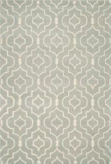 Safavieh CHT736E Chatham Collection Wool Handmade Area Rug, 8 Feet by 10 Feet, Grey and Ivory