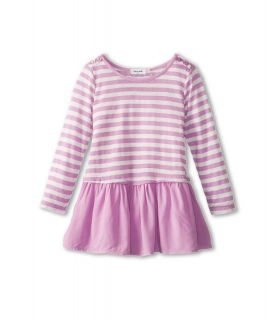 Splendid Littles Pointelle L/S Stripe Drop Waist Dress Girls Dress (Purple)