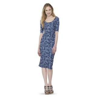 Mossimo Supply Co. Juniors Printed Midi Dress   Blue Tribal M(7 9)