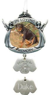 Cathedral Art In Loving Memory Angel Dog Memorial Photo Ornament dog charm CO737   Prints
