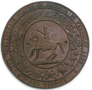 CSA Confederate Horse Rider Cast Iron Seal Plaque Sign  Decorative Plaques