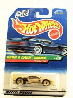 Hot Wheels   1998   Dash 4 Cash Series   Ferrari F40   Gold Metallic Paint   2 of 4   Collector #722   Limited Edition   Collectible 164 Scale Toys & Games