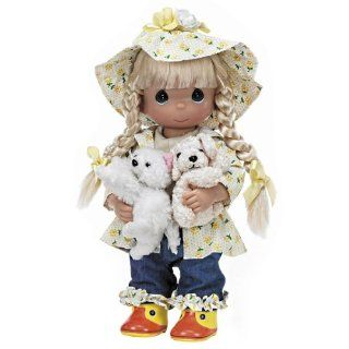 "The Doll Maker Raining Cats and Dogs Baby Doll, 12"" Toys & Games"