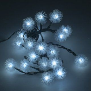 Weanas � Solar Power Chuzzle Snowball Style String Fairy Lights 20 LEDs White 16.5 feet 5M Solar Energy for Indoor Outdoor Home Garden Christmas Wedding Party   Solar Lights Outdoor Balls