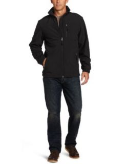 Haggar Men's Soft Shell Jacket, Black, Large at  Men�s Clothing store