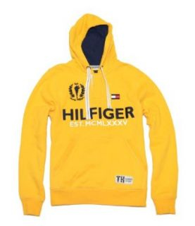 Tommy Hilfiger Men Fashion Big Logo Hoodie (M, Yellow) at  Men�s Clothing store