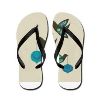 Artsmith, Inc. Women's Flip Flops (Sandals) Retro Peace Birds Costume Footwear Clothing
