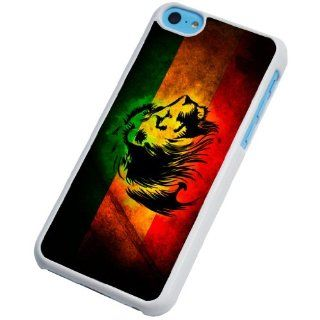 iphone 5C rasta jamaican lion Fashion Trend Design Case/Back cover Metal and Hard Plastic Case Cell Phones & Accessories