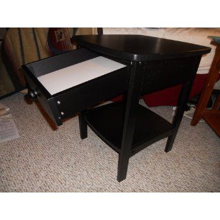 Winsome Wood End Table/Night Stand with Drawer and Shelf, Black   Nightstand