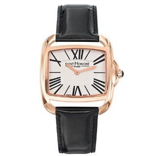 Saint Honore Charisma 721061 3AR mm Automatic Gold Plated Stainless Steel Case Black Calfskin Mineral Women's Watch at  Women's Watch store.