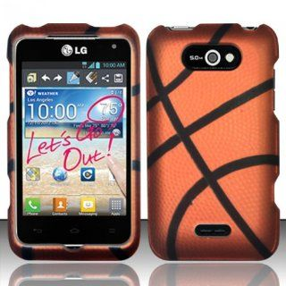 LG Motion 4G MS770 / Optimus Regard LW770 Case (Metro Pcs / Cricket) Sports Basketball Design Hard Cover Protector with Free Car Charger + Gift Box By Tech Accessories Cell Phones & Accessories